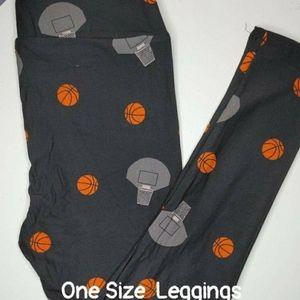 Lularoe OS 2-10 Basketball leggings NWT